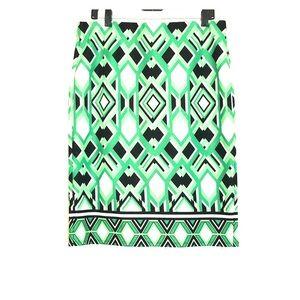 NYCC multi-green skirt with back split